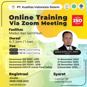 Training Awaress ISO