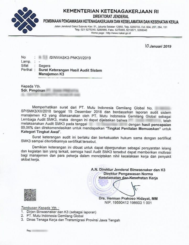 Surat Keterangan Audit SKA