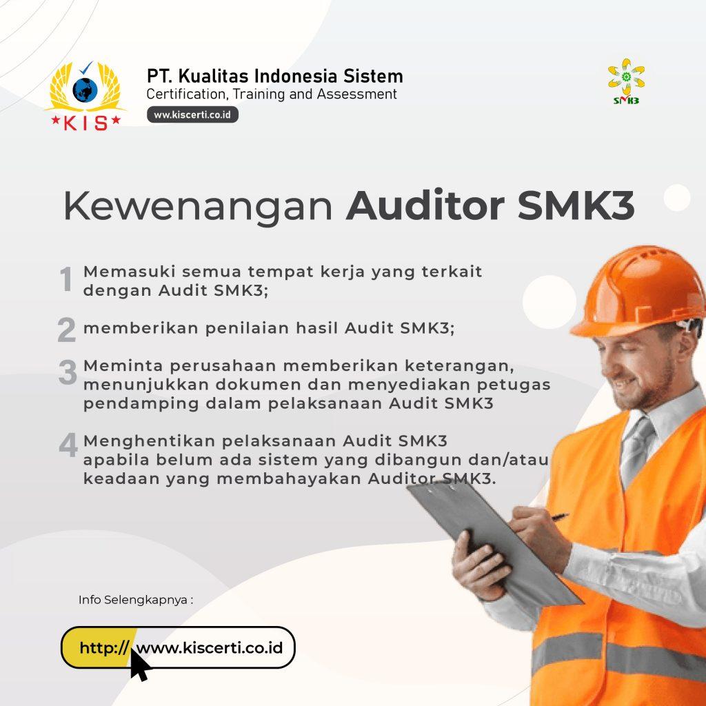 Kewenangan Auditor SMK3